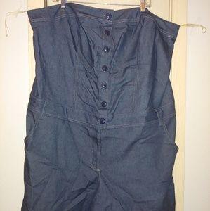 Torrid bandeau Style jean romper